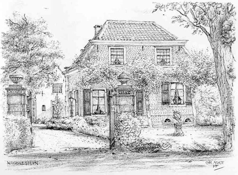 Kroonesteyn - tekening C.J.Th. Schut - PL1
