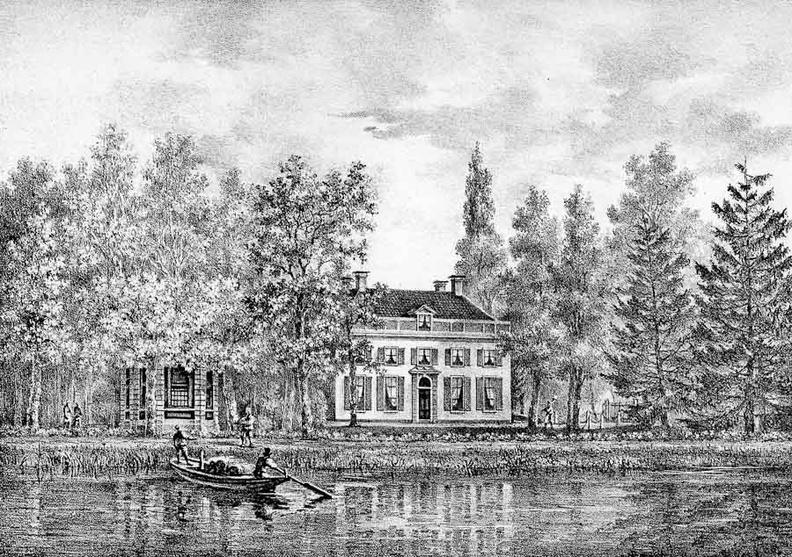 Breukelen Boom-oord - Breukelen - gravure van PJ Lutgers ca 1836 - GE2