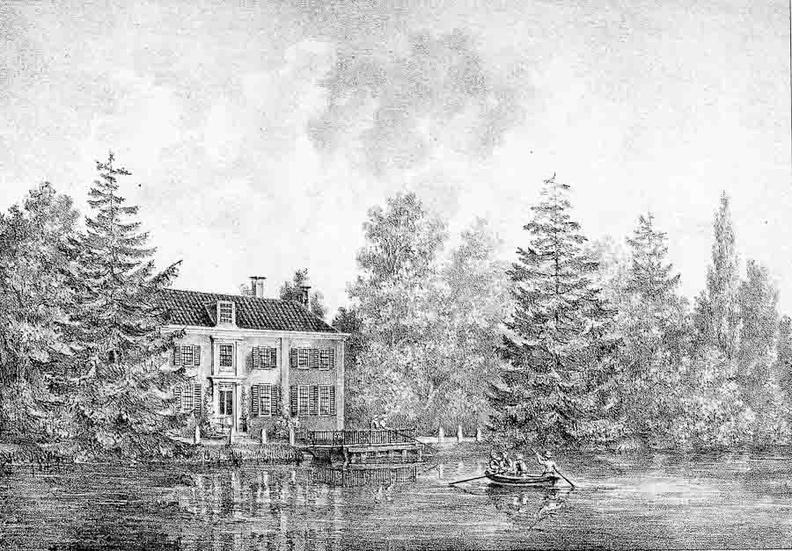 Hoffwerk - Vechtzijde - gravure van PJ Lutgers ca 1836 - GE2