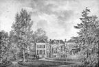 Hoffwerk - straatzijde - gravure van PJ Lutgers ca 1836 - GE2