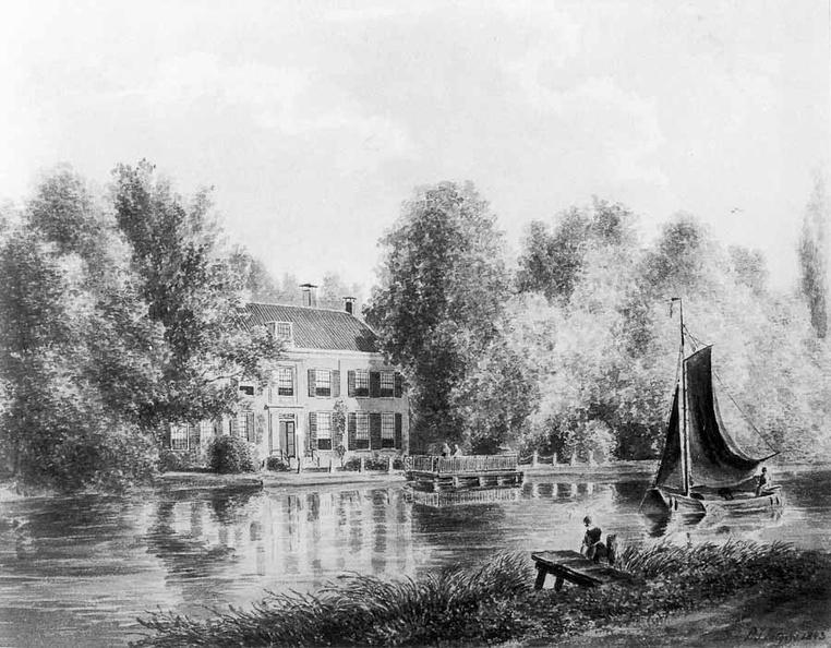 Hoffwerk - tekening door PJ Lutgers uit 1843 - GE4