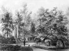 Queekhoven - koepelkamer - tekening door PJ Lutgers uit 1866 - GE4