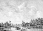 Breukelen Slangevecht - gravure PJ Lutgers ca 1836 - GE2