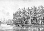 Vecht en Hoff - gravure van PJ Lutgers ca 1836 - GE2