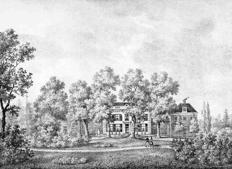 Vreedenoord - straat - gravure PJ Lutgers ca 1836 - GE2