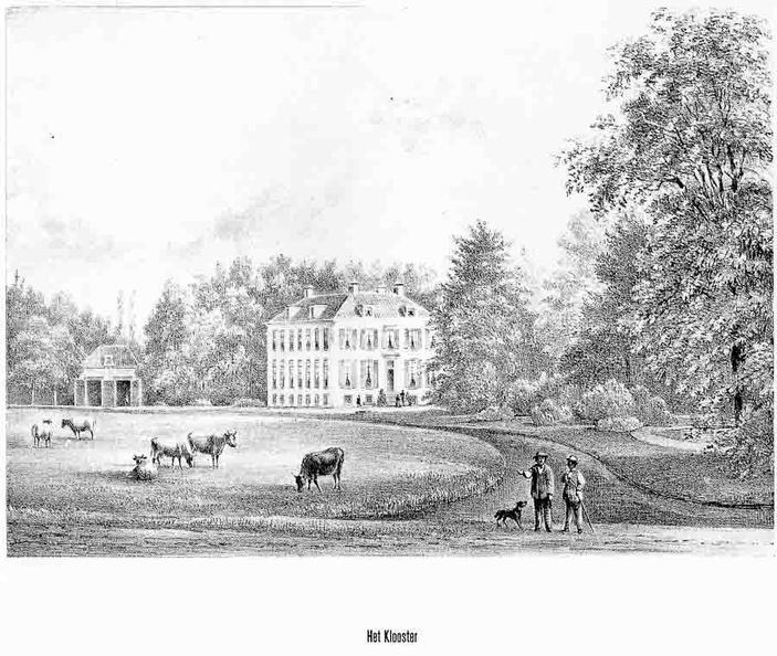 Klooster - litho van PJ Lutgers 1869 - GEZ2