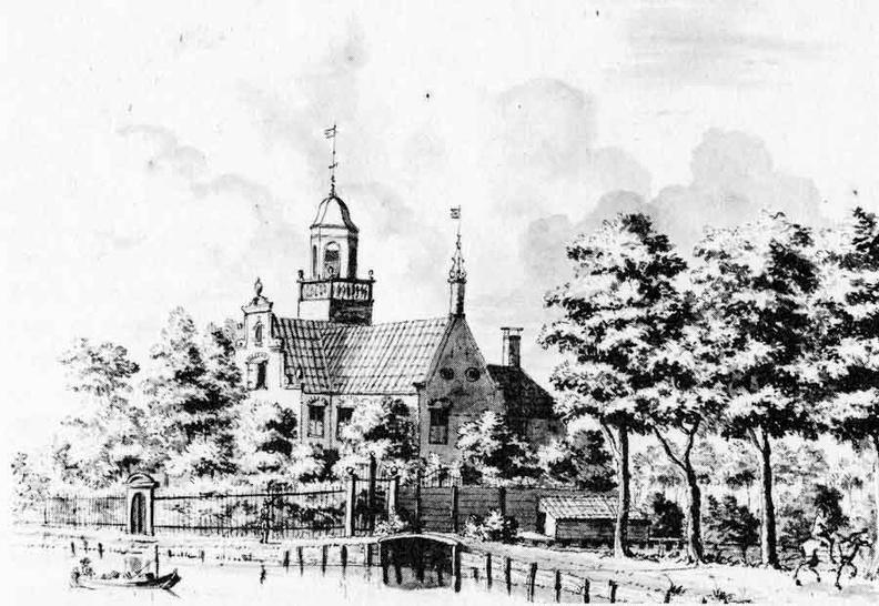 Nieuwersluis Weeresteyn - tekening LP Serrurier ca 1730 - PL1