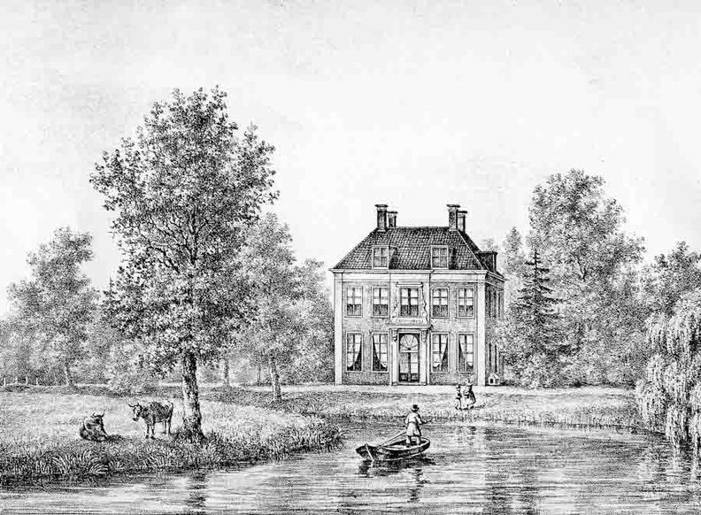 OudZuilen Groenhove - gravure PJ Lutgers ca 1836 - GE2-4