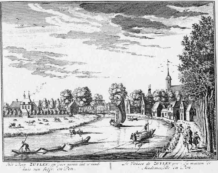 OudZuilen Groenhoven - landhuis van Mw Du Pon - gravure A Rademaker ca 1791 - DE2-1