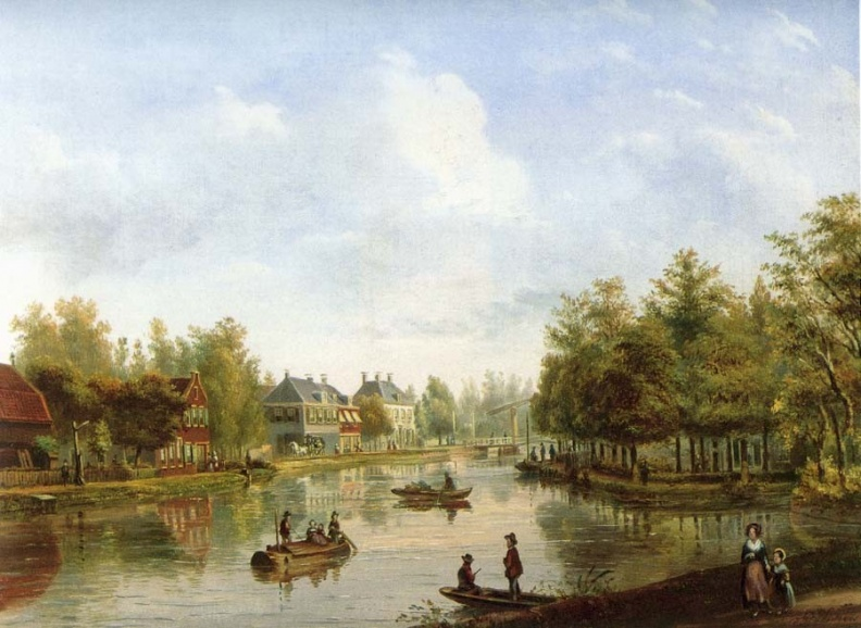 Vreeland Schoonoord - olieverf op doek door PJ Lutgers 1854 - GE4-6
