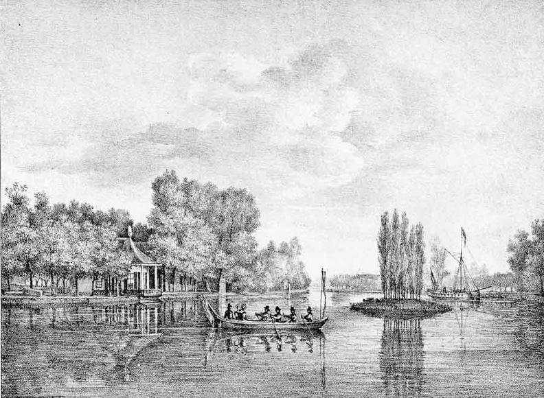 Vreeland Slotzigt - gravure van PJ Lutgers ca 1836 - GE2-7