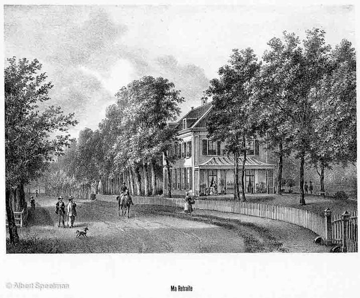 Zeist MaRetraite - litho van PJ Lutgers 1869 - GEZ2