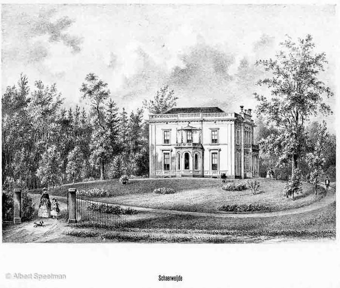 Zeist Schaerweijde - litho PJ Lutgers 1869 - GEZ2