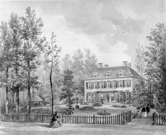 Zeist Bloemenheuvel - tekening PJ Lutgers 1869 - UT1