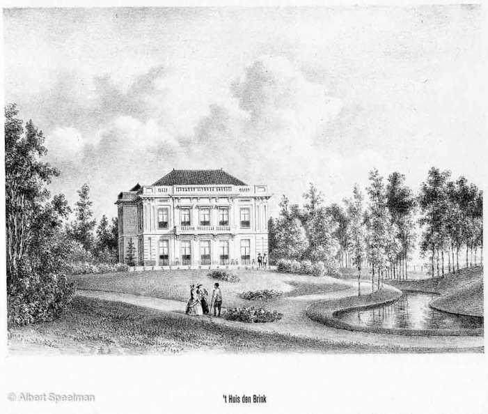 Zeist Brink - litho PJ Lutgers 1869 - GEZ2
