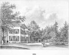Den Burg - gravure P.J.Lutgers ca 1856 - GEZ1