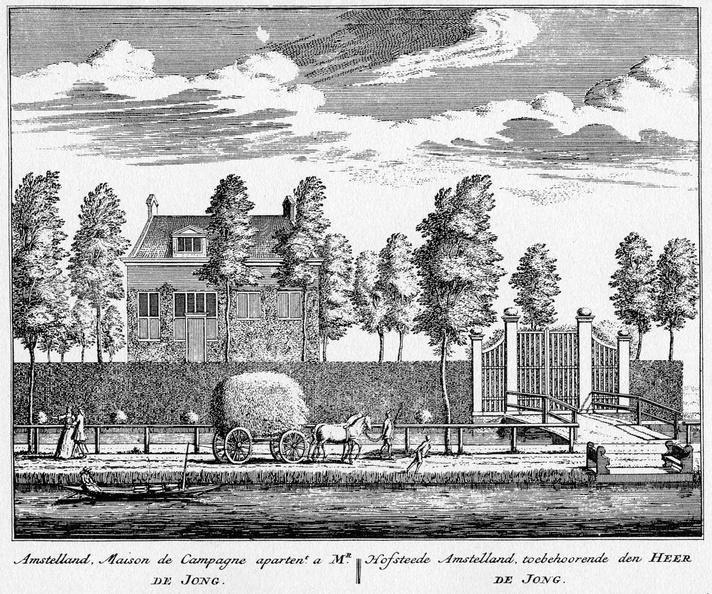 Amstelveen Amstelland - ets Abraham Rademaker, 1730 - HOL1