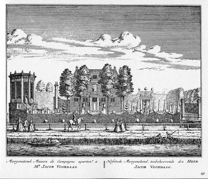 Amstelveen Morgenstond - ets Abraham Rademaker, 1730 - HOL1