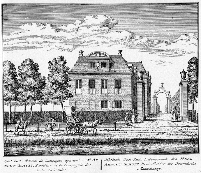 Amstelveen Oostrust - ets Abraham Rademaker, 1730 - HOL1