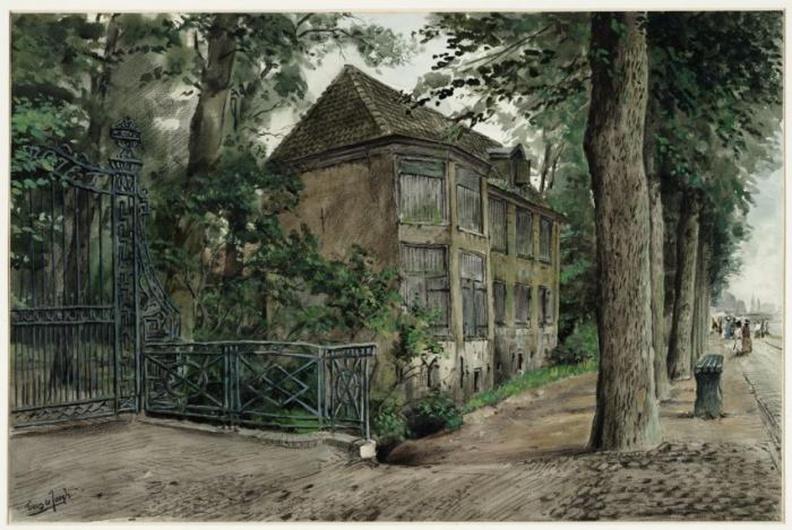 Amsterdam Amstelvliet - 1 - tekening Tinus de Jongh, 1914 - Beeldbank Asd