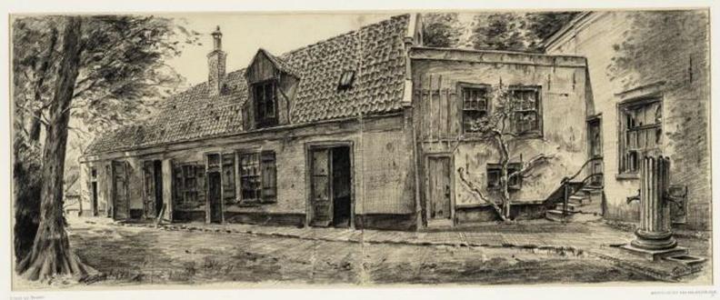 Amsterdam Amstelvliet - tekening Tinus de Jongh, 1914 - Beeldbank Asd