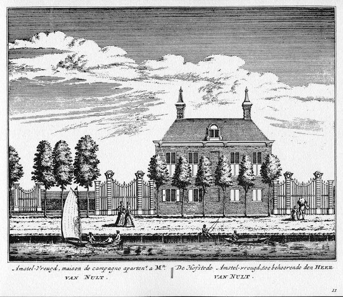 Amsterdam Amstelvreugd - ets Abraham Rademaker, 1730 - HOL1