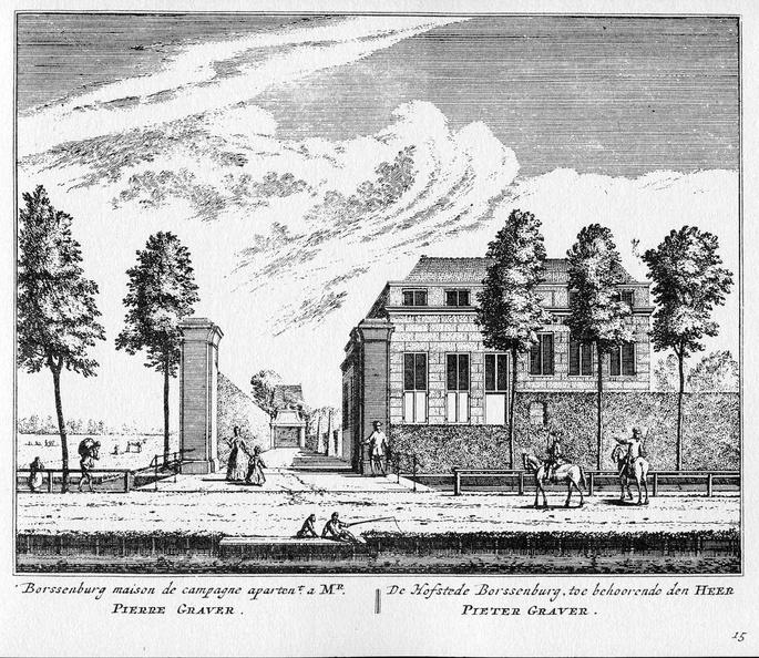 Amsterdam Borssenburg - ets Abraham Rademaker, 1730 - HOL1