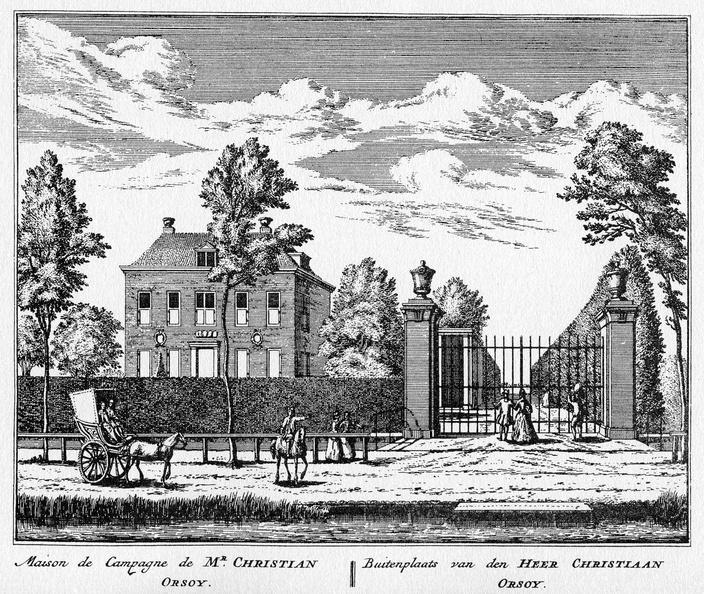 Amsterdam Bosch en Hoven - ets Abraham Rademaker, 1730 - HOL1