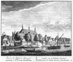Amsterdam Brandwijk - ets Abraham Rademaker, 1730 - HOL1