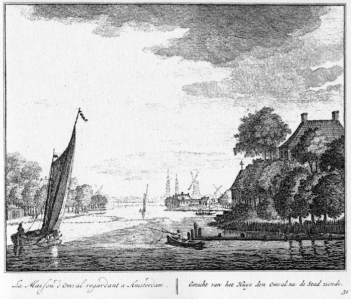 Amsterdam Omval - ets Abraham Rademaker, 1730 - 02 - HOL1