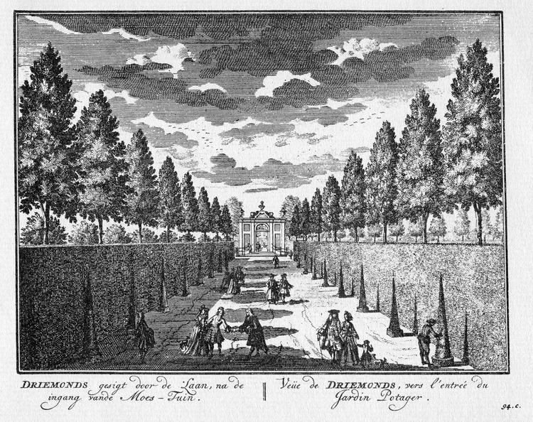 Amsterdam Driemond - door de laan - gravure A Rademaker ca 1791 - DE2