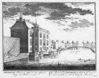 Amsterdam Driemond - langs de kom - gravure A Rademaker ca 1791 - DE2