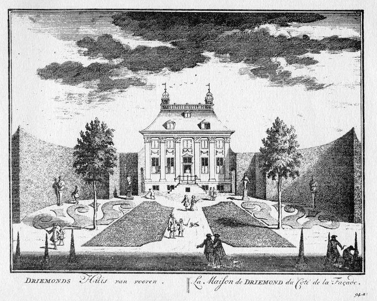Amsterdam Driemond - voorzijde - gravure A Rademaker ca 1791 - DE2