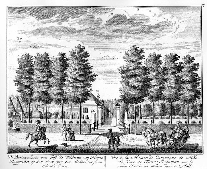 Amsterdam Buitenplaats weduwe Koopman - tekeningen Stoopendaal - HE6