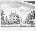 Amsterdam Meerhuizen - ets Abraham Rademaker, 1730 - HOL1