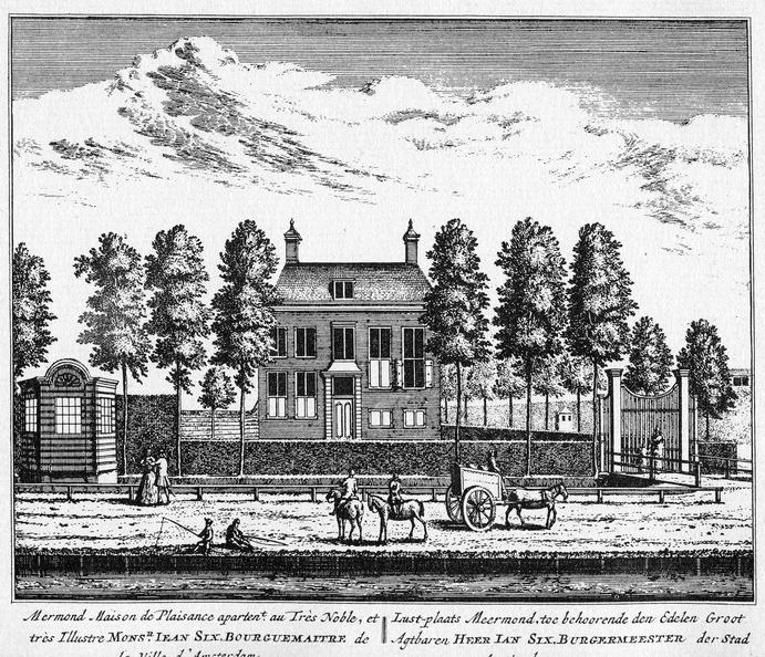 Amsterdam Meermond - ets Abraham Rademaker, 1730 - HOL1