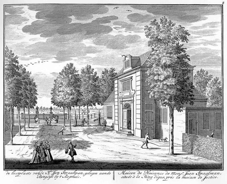 Amsterdam Buitenplaats van Jan Straalman - tekeningen Stoopendaal - HE6