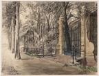 Amsterdam Slotzicht - tekening Tinus de Jongh, 1914 - Beeldbank Asd