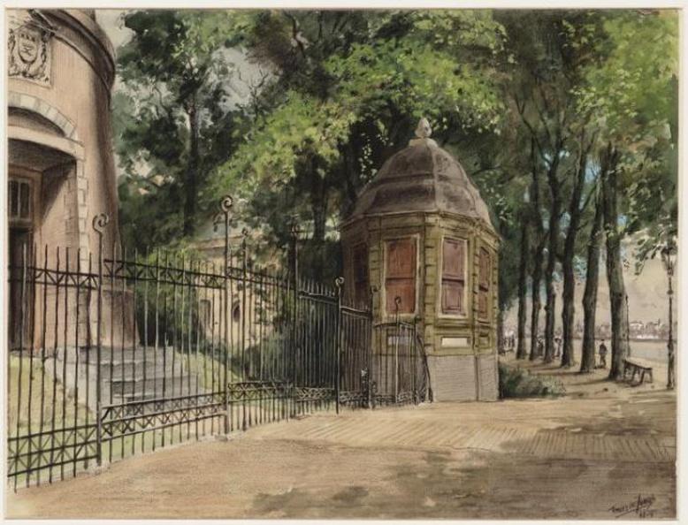 Amsterdam Slotzicht - theekoepel - tekening Tinus de Jongh, 1914 - Beeldbank Asd