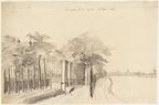 Amsterdam Trompenburg - tekening, 1754 - Beeldbank Asd
