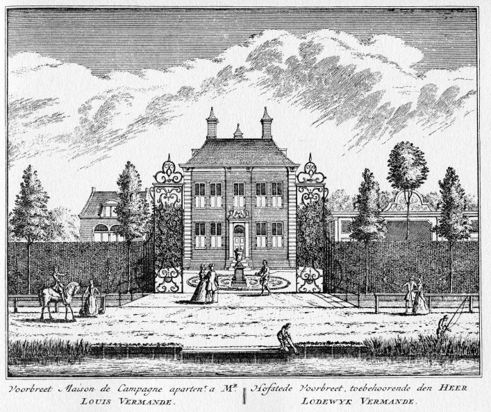 Amsterdam Voorbreed - ets Abraham Rademaker, 1730 - HOL1
