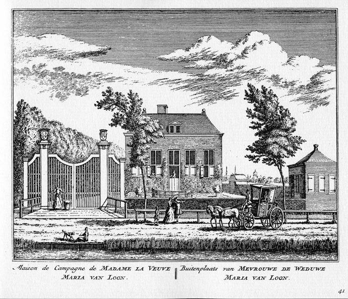Amsterdam Vreugdenhof - ets Abraham Rademaker, 1730 - HOL1