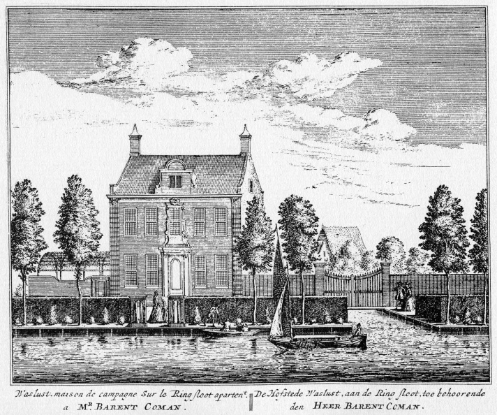 Amsterdam Waslust - ets Abraham Rademaker, 1730 - HOL1