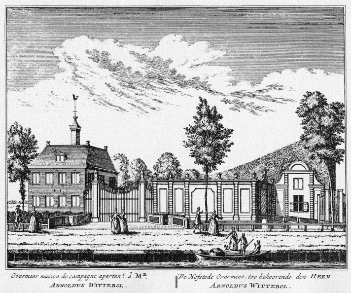 Amsterdam Overmeer - ets Abraham Rademaker, 1730 - HOL1