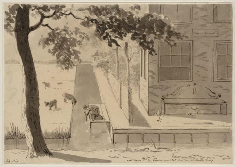 Amsterdam Overmeer - tekening Christiaan Andriessen, 1805-1806 - Beeldbank Asd