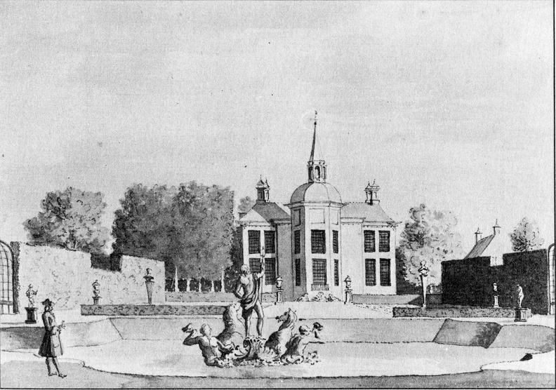 Ankeveen Ankeveen - in 1730 - tekening anoniem - EE1