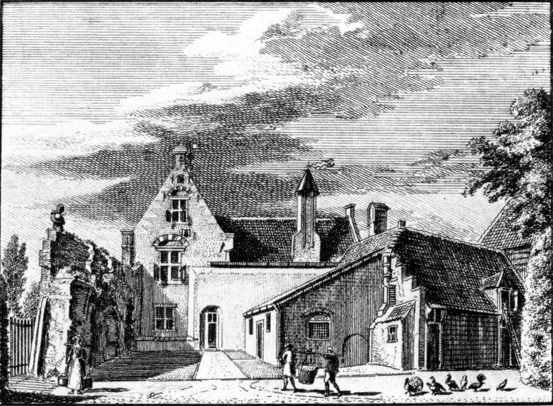 Bloemendaal Albrechtsberg - gravure van C Pronk en H Spilman, 1746