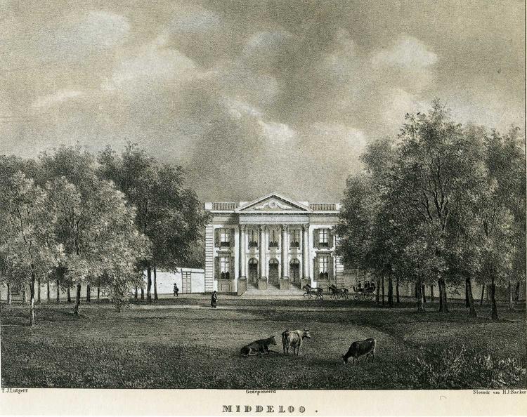 Driehuis Middelo - litho naar tekening PJ Lutgers ca 1840 - HA1