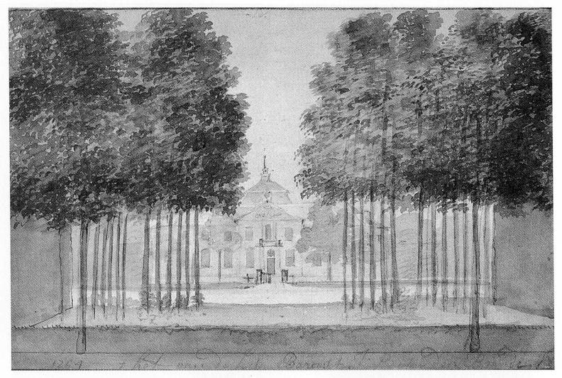Aagtekerke Heere - tekening door A Schouman, 1754 - JAN01