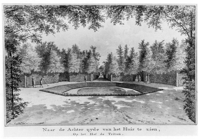 Koudekerke Triton - kleine vijver - tekening Jan Arends 1772- HET01